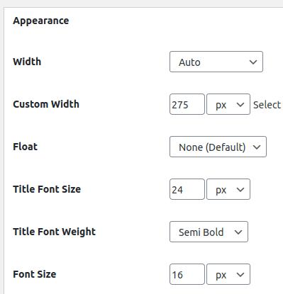 Настройки на шрифта