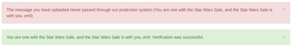 Служебни съобщения в Train spam