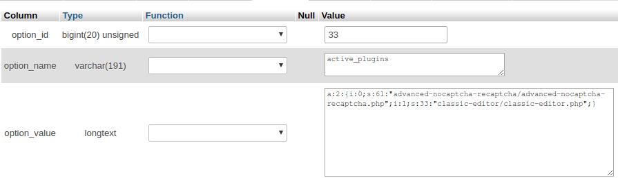 Изтриване на съдържание в phpMyAdmin