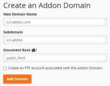 manage domains cpanel