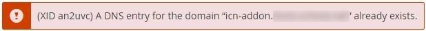 Съобщение за грешка в cPanel