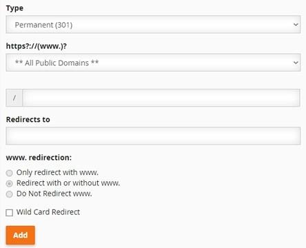 url redirect cpanel