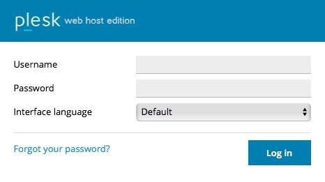 Въвеждане на потребителско име и парола за логване в Plesk