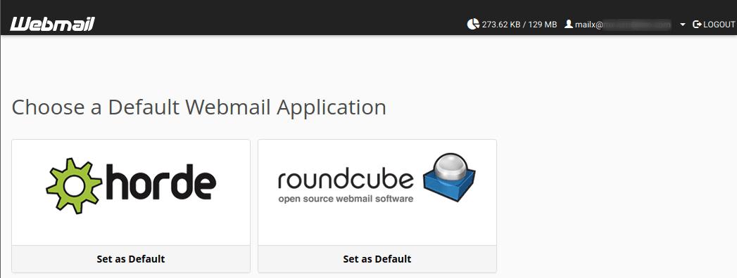 Избиране на webmail приложение по подразбиране