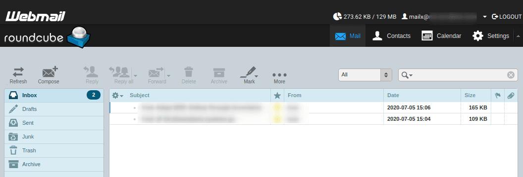 Достъп до пощенски акаунт през Roundcube