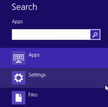 Поле за търсене в Windows 8.1