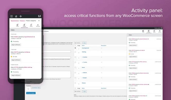 WooCommerce Admin с нов Activity panel