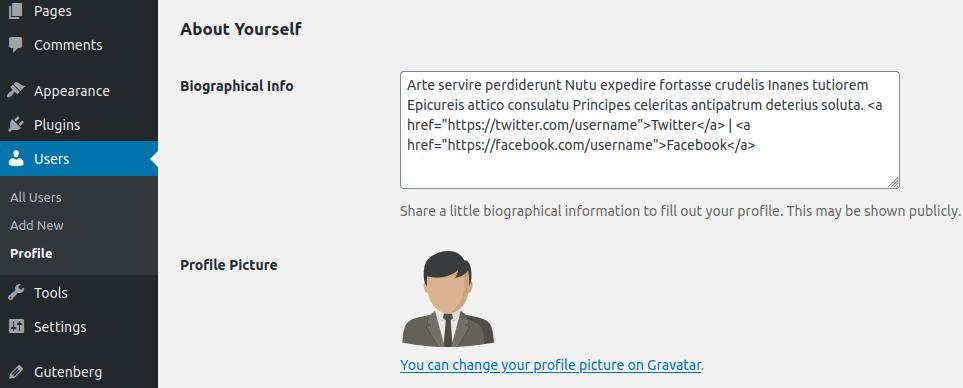 Въвеждане на профилна информация за администратор