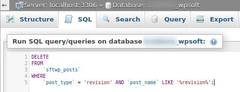 Въвеждане на SQL заявка в phpMyAdmin