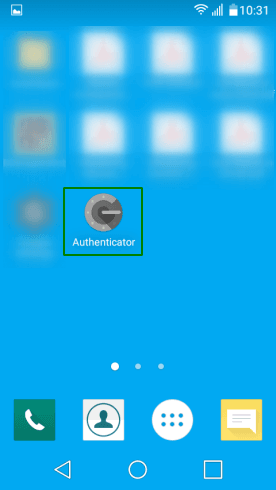 Икона на десктопа на Google Authenticator