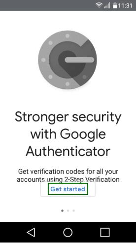 Конфигуриране на Google Authenticator