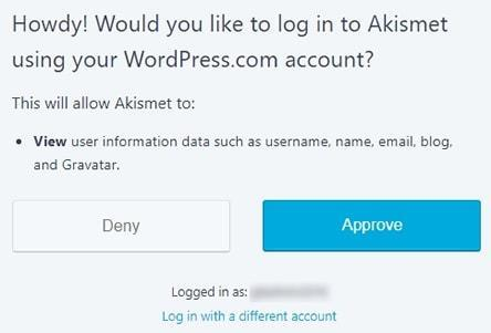 wordpress akismet email spam filter