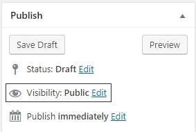 изглед на панел Publish