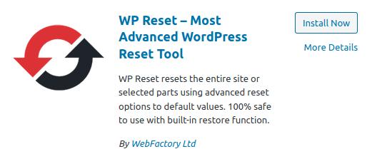 Инсталиране на WordPress плъгин WP Reset