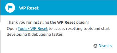 Достъп до WP Reset от Dashboard