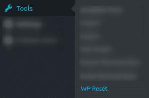 Достъп до WP Reset от главното меню