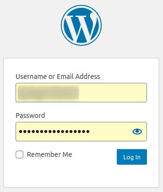 Логване в администрацията на WordPress