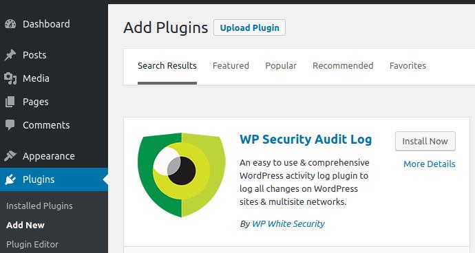 Инсталиране на плъгина WP Security Audit Log