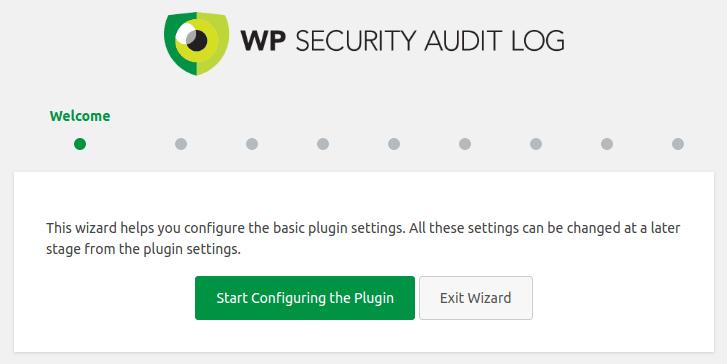 Стартиране конфигурирането на Audit Log
