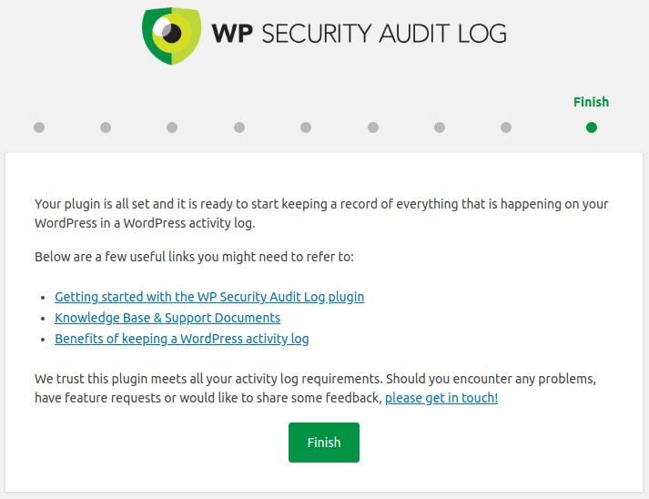 Завършване на конфигурацията на Audit Log
