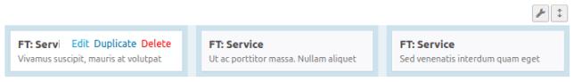 Секция Service в SiteOrigin