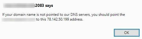 информация за коректно DNS насочване на домейна