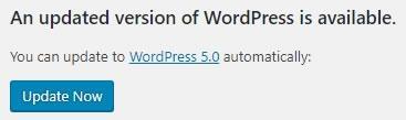 Стартиране на актуализция на WordPress