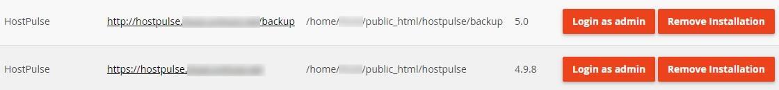 Изтриване на клонираното копие на сайта