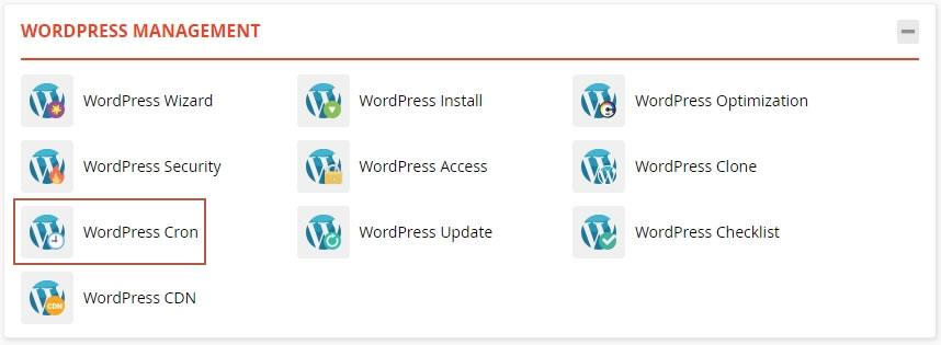 достъп до WordPress Cron през WordPress Management