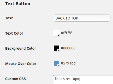 Създаване на бутон с опцията Text