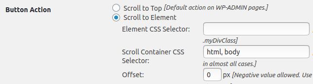 Настройка Scroll to Element