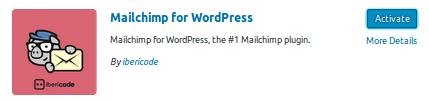 Активиране на плъгина MailChimp for WordPress