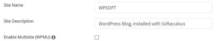 wordpress install softaculous