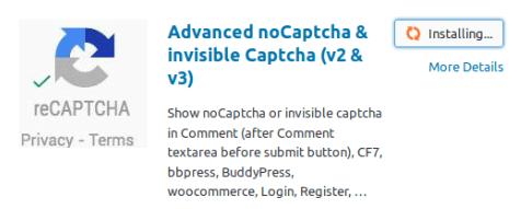 Инсталиране на плъгин Advanced noCaptcha & invisible Captcha