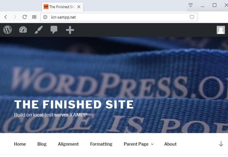 промяна в изгледа на сайта