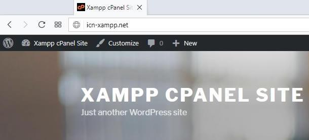 зареждане на сайта с новото заглавие в браузер
