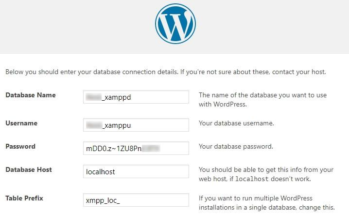 wordpress localhost инсталация